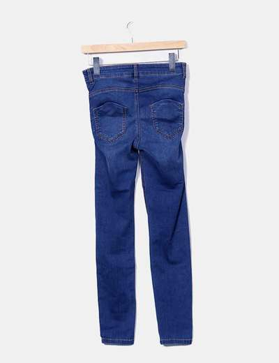 Jeggings denim tiro alto