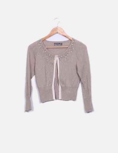 Suéter beige con abalorios Easy Wear