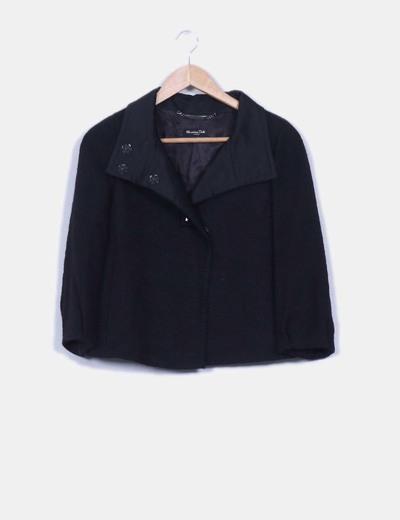 Blazer negra texturizada Massimo Dutti