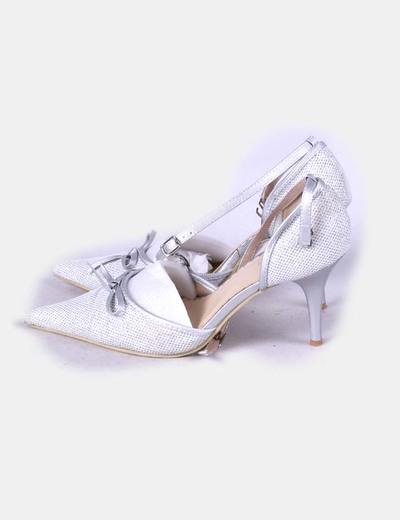 Sandalia de tacón glitter NoName