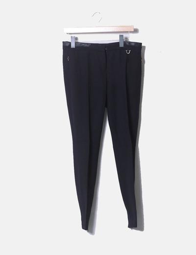 Pantalón chino negro Massimo Dutti
