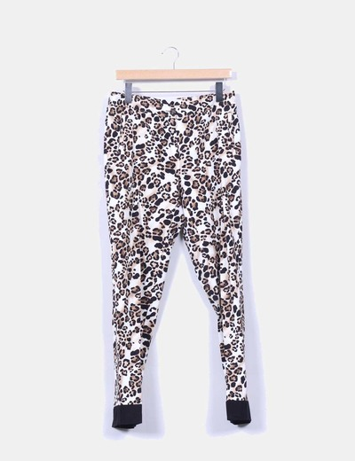 Pantalon de pinzas print animal