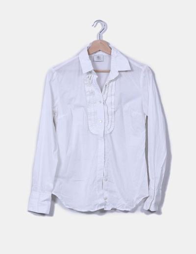 Blusa blanca con chorrera Cerruti