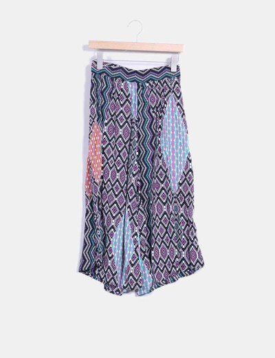 Pantalón culotte multicolor Suiteblanco