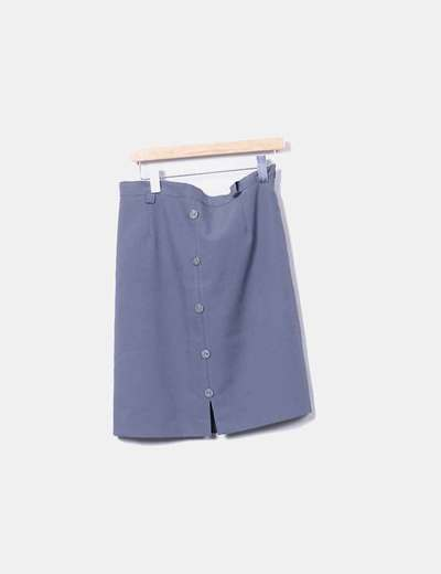 Gray skirt with buttons NoName