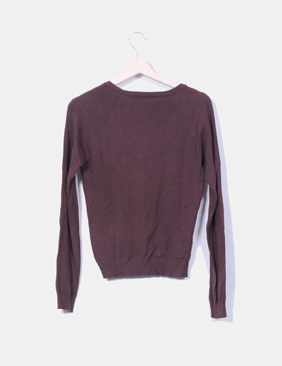 Jersey tricot marron