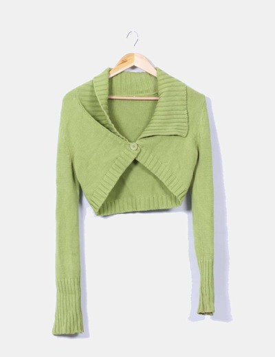Chaqueta torera tricot verde NoName