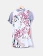 Vestido combinado tricot estampado floral Cameo