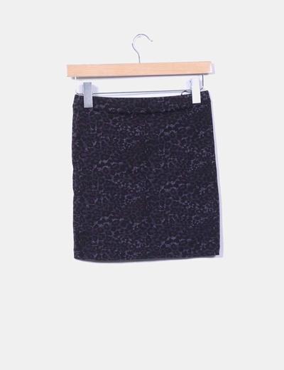 Mini falda animal print ajustada