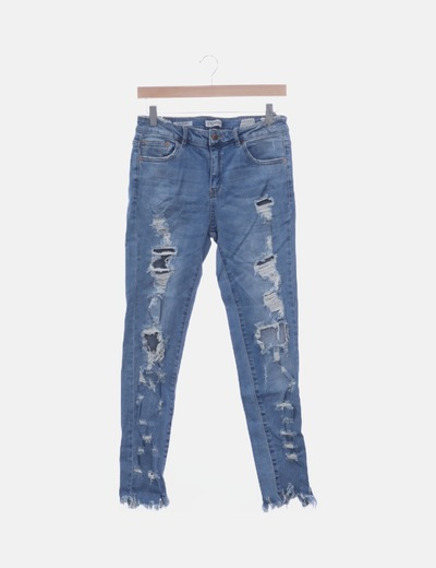 Jeans skinny mid waist ripped
