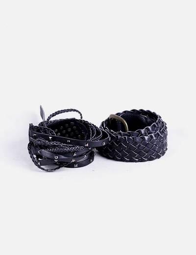 Pack 2 cintos negros NoName