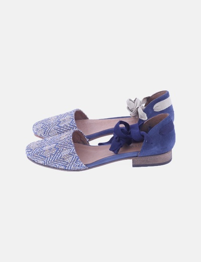 Zapato azul lace up