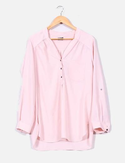 venta caliente en línea mirada detallada en línea aquí última tecnología bien baratas comprar blusas palo de rosa manga ...