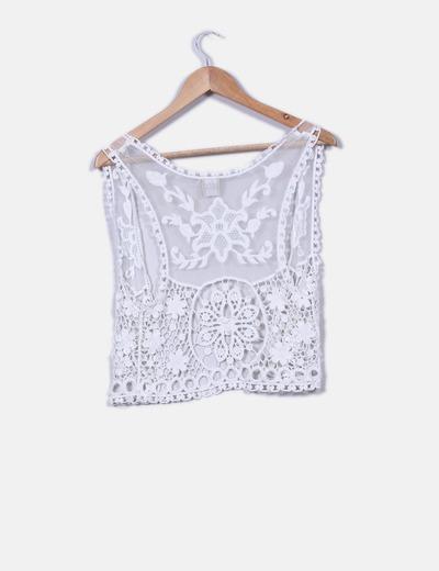 Chaleco blanco crochet