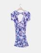 Vestido estampado flores azules escote en V Bershka