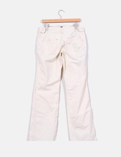 Pantalon estilo safari beige