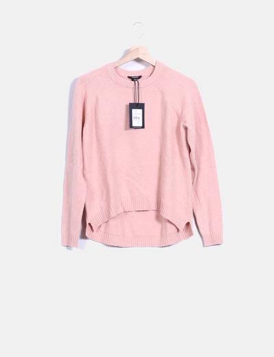 Jersey tricot tail hem rosa palo MbyM
