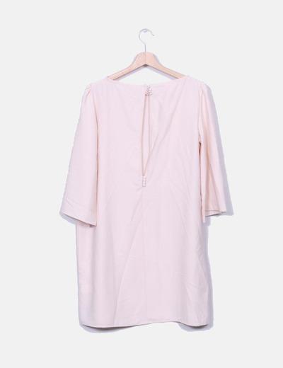 Vestido rosa palo fluido