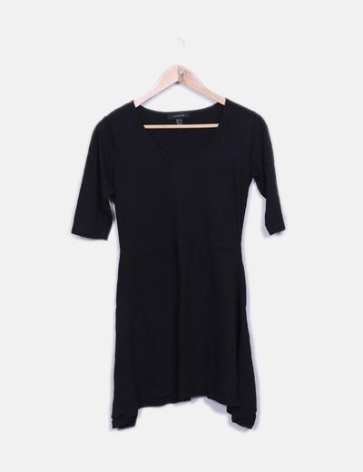 Vestido negro manga corta Primark