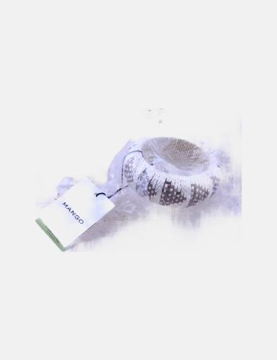 Brazalete encordado blanco glitter