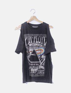 92c420c1af Camiseta negra Pink Floyd Stradivarius