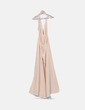 Nude halter party dress with sash Sisters the Label