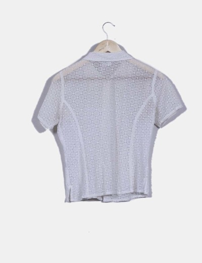 Blusa blanca corchet