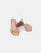 Sandalia tacón ancho tricolor texturizada Farrutx