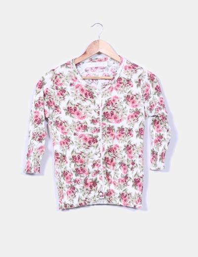 Cárdigan floral Zara