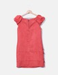 Vestido de antelina rojo Rosas Rojas