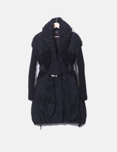 093f1b5418b52 CLIPS Manteau noir rembourré (réduction 73%) - Micolet