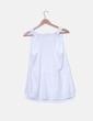 Blusa de tirantes blanca detalle bolsillo Inside