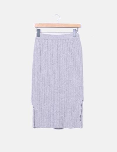 Suncoo Falda midi entallada gris (descuento 79%) - Micolet b6451515caf2