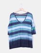 Tricot oversize rayas a colores Calypso