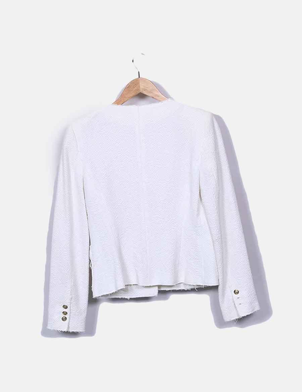 8158aab7bcf Y Blanca Baratos Tweed Mujer Abrigos De Online Chaqueta Zara qAO7q