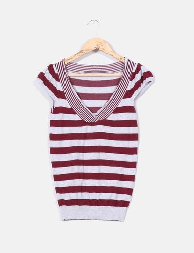 Top tricot de rayas NoName