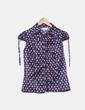Blusa satinada floral Suiteblanco
