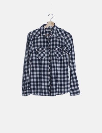 Camisa cuadro vichy azul