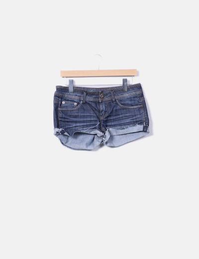 Short denim azul oscuro Fórmula Jeans