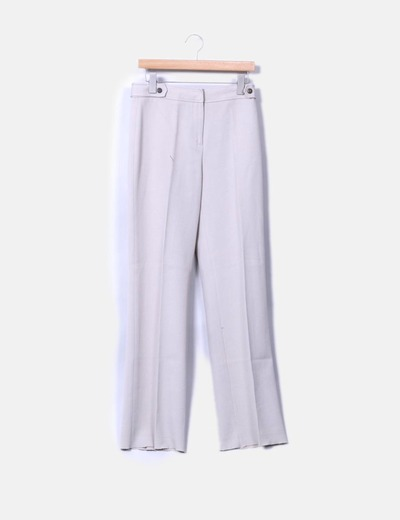 Pantalón beige texturizado Roberto Verino