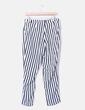 Pantalon blanc et noir rayé Ginatricot