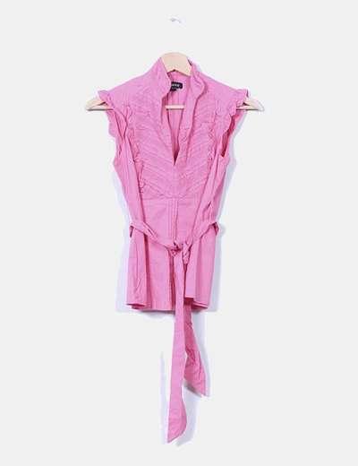 Camisa rosa entallada Suiteblanco