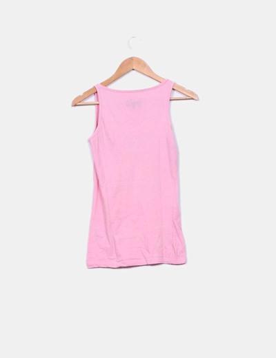 84ca07133 Primark Camiseta de tirantes rosa con dibujo (descuento 90%) - Micolet