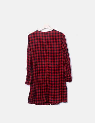 79 Rojo Zara descuento Negro De Y Cuadros Micolet Vestido w0q5RxOqF