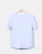 Camiseta azul claro combinada Maison Scotch