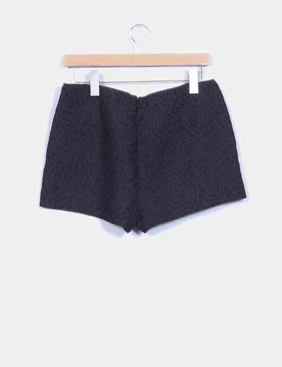 Shorts en textura negra