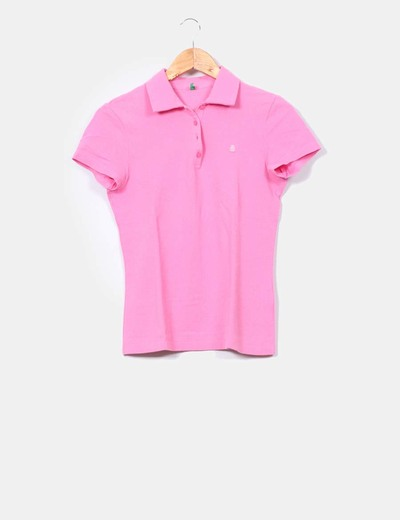 Polo rose gomme Benetton