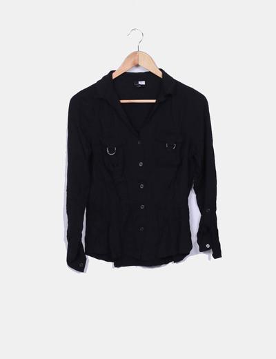 T-shirt noir à poches H&M