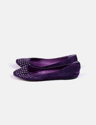 Ballerines violettes cloutées Tex Woman