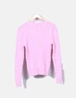 Jersey de ochos rosa escote pico Ralph Lauren